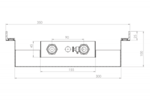 Fractal DUO - moduł początkowy - wymiary