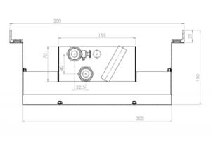 Fractal QUATTRO - moduł początkowy - wymiary