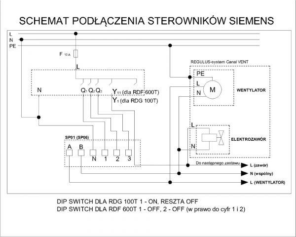 Wariant Siemens RDF600T schemat